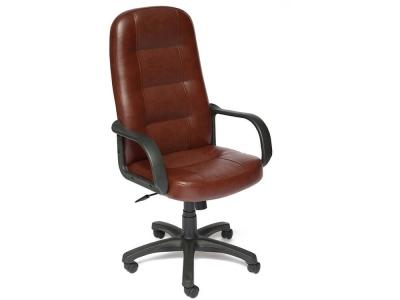 Кресло Devon кож.зам Коричневый + Коричневый перфорированный (2 Tone/2 Tone /06)