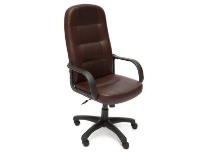 Кресло Devon кож.зам Коричневый + Коричневый перфорированный (36-36/36-36/06)