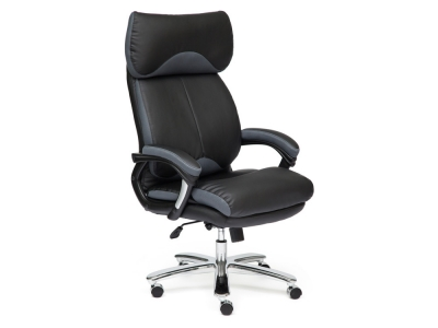 Кресло Grand кож.зам + ткань Чёрный + Серый (36-6/12)