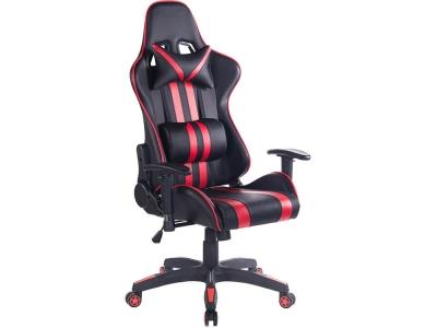 Кресло Icar кож.зам Чёрный + Красный