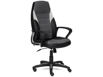 Кресло Inter иск кожа - ткань Чёрный - Серый