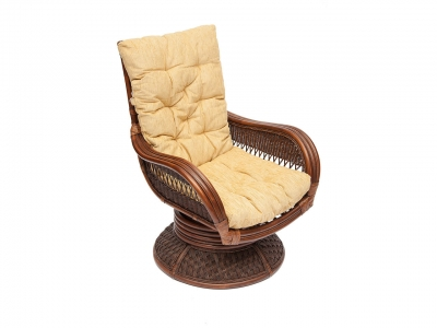 Кресло-качалка Andrea Relax Medium с подушкой Античный Орех Кремовый