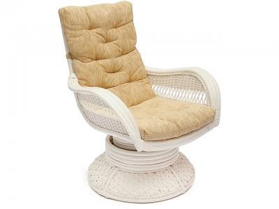Кресло-качалка Andrea Relax Medium с подушкой Tch Белый Кремовый