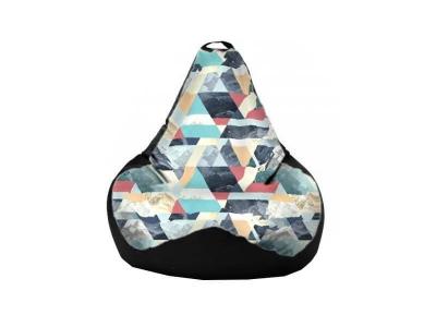 Кресло-мешок Snow Aqua-Black