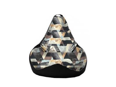 Кресло-мешок Snow Brown-Black