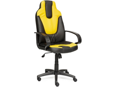 Кресло Neo-1 кож.зам Чёрный + Жёлтый (36-6/36-14)