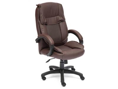 Кресло Oreon кож.зам Коричневый + Коричневый перфорированный (36-36/36-36/06)