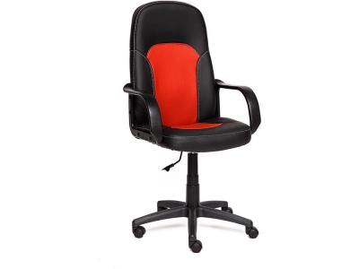 Кресло Parma кож.зам Чёрный + Красный 36-6/36-161