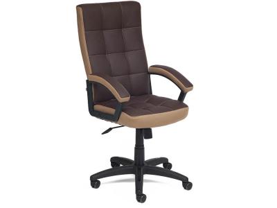 Кресло Trendy кож.зам + ткань Коричневый + Бронзовый (36-36/21)