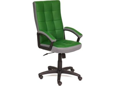 Кресло Trendy кож.зам + ткань Зеленый + Серый (36-001/12)