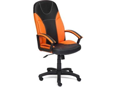 Кресло Twister кож.зам Чёрный + Оранжевый (36-6/14-43)