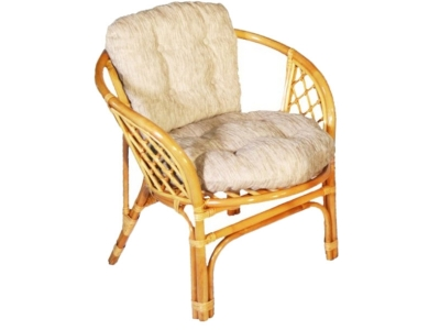 Кресло Багама мед со светлой подушкой