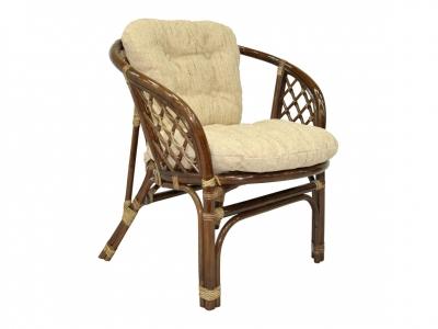 Кресло Багама темно-коричневый со светлой подушкой