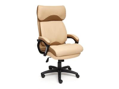 Кресло Duke иск кожа - ткань Бежевый - Бронза