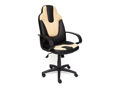 Кресло Neo 1 иск кожа Чёрный - Бежевый
