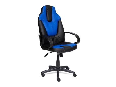 Кресло Neo 1 иск кожа Чёрный - Синий
