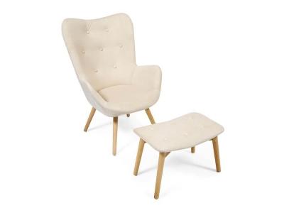 Кресло Secret De Maison Kontour с оттоманкой Бежевый (mod.1534l)