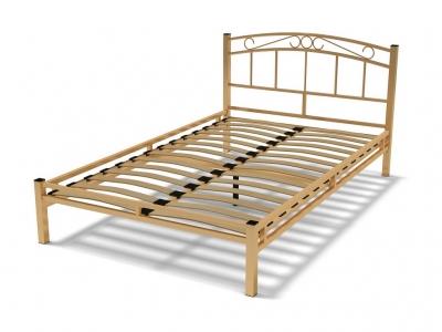 Кровать 120 Виола металлическая Крем