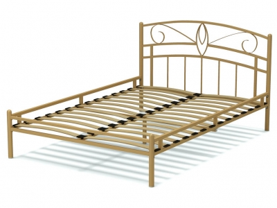 Кровать 140 Арго металлическая Крем