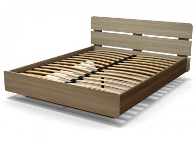 Кровать 160 Жанна с основанием Ясень шимо тёмный - Ясень шимо светлый