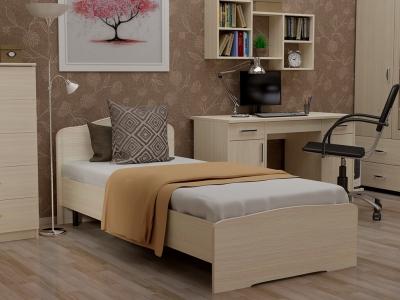 Кровать 90 Альфа с основанием Дуб млечный