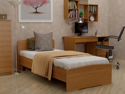 Кровать 90 Альфа с основанием Вишня