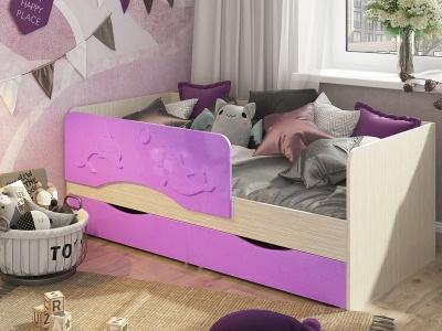 Кровать Алиса сирень металлик
