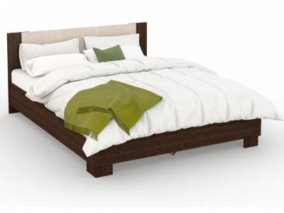 Кровать Аврора 160х200 основание ЛДСП Венге/Дуб молочный