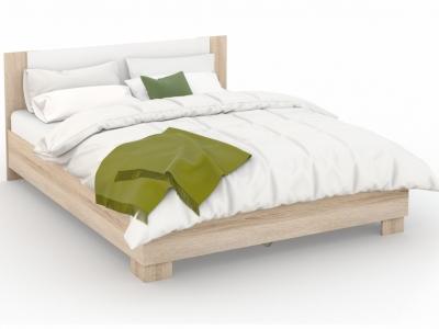 Кровать Аврора 160х200 основание ЛДСП Сонома/белый