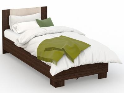 Кровать Аврора 90х200 основание ЛДСП Венге/Дуб молочный
