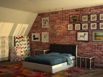 Кровать Boston черная спинка-белые царги
