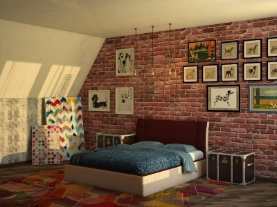 Кровать Boston коричневая спинка-бежевые царги