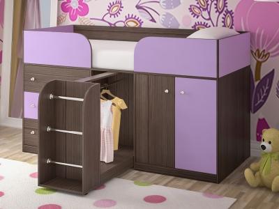 Кровать-чердак Малыш 4 бодега-ирис