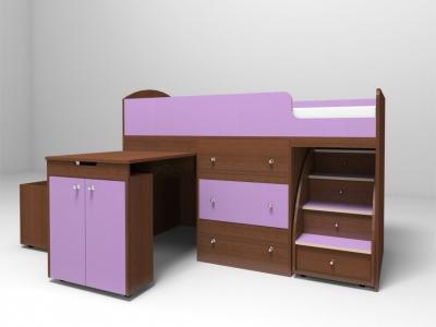 Кровать-чердак Малыш итальянский орех-ирис