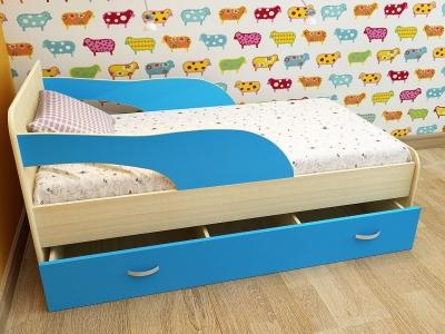 Кровать детская Кроха 2 дуб-синий