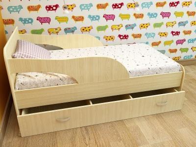Кровать детская Максимка дуб