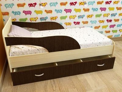 Кровать детская Максимка дуб-венге