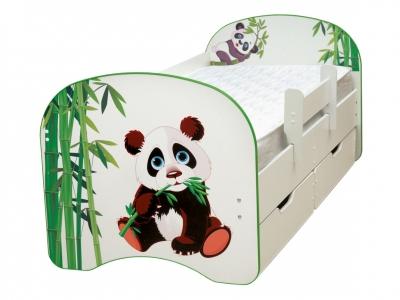 Кровать детская с фотопечатью с 2-мя ящиками Панда