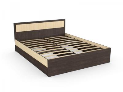 Кровать Дуэт 140 венге дуб с основанием