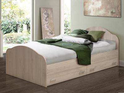 Кровать двойная на уголках №1 с ящиками Матрица