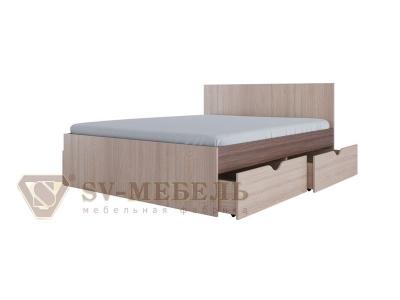 Кровать двойная с ящиками СВ No 1 Ясень Шимо