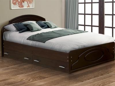 Кровать двойная Венеция 2 матовая с ящиками