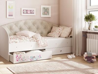 Кровать Эльза бежевый
