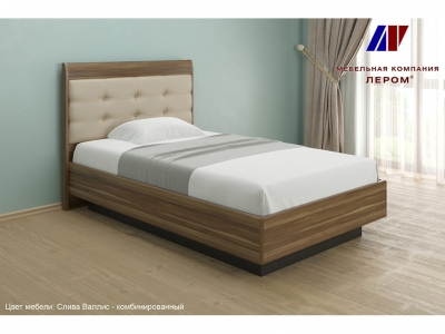 Кровать КР-1851 1200х2000 Слива Валлис - комбинированный