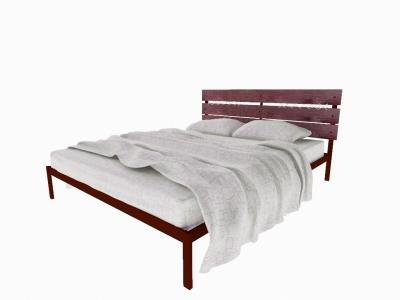 Кровать Луиза коричневая