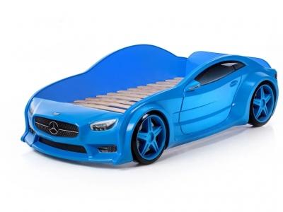 Кровать-машина Evo Мерседес синяя