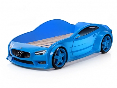 Кровать-машина Evo Вольво синяя