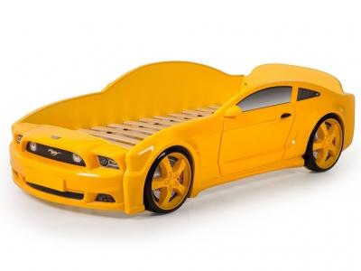 Кровать-машина Light Mustang 3D желтая