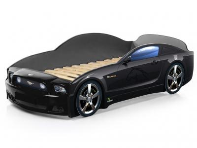 Кровать-машина Light Mustang plus черная