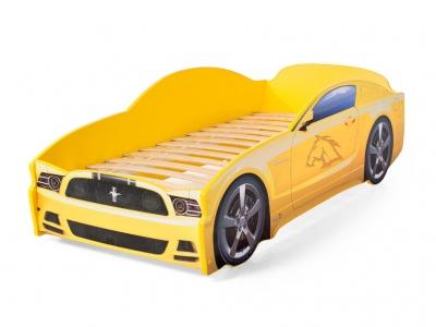 Кровать-машина Light Mustang желтая